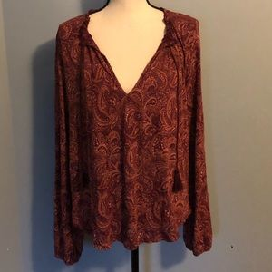 Lucky Brand Paisley Top